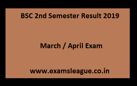 BSC 2nd Semester Result 2019