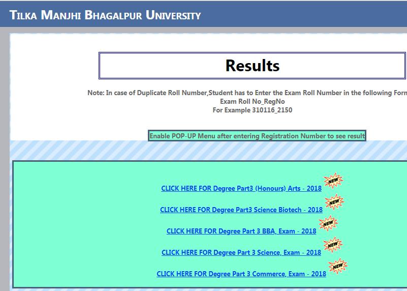 TMBU Part 3 Result 2019