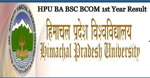 HPU BSC 1st Year Result 2019