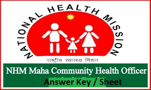 Maharashtra NHM CHO Answer Key 2019