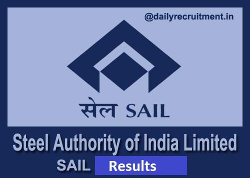 SAIL Medical Officer Result 2019