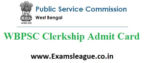 WBPSC Clerkship Admit Card 2019