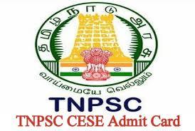TNPSC CESE Hall Ticket 2019