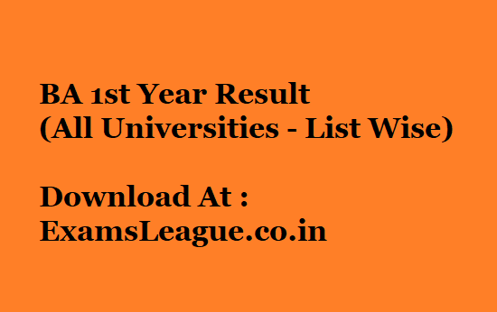 BA 1st Year Result 2020