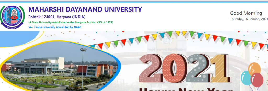 MDU B.Ed Admit Card 2021 1st & 2nd Year DOWNLOAD NOW